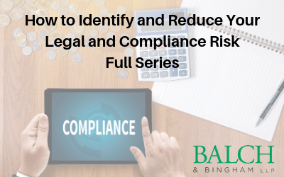 Webinar: How to Identify and Reduce Your Legal and Compliance Risk (series)